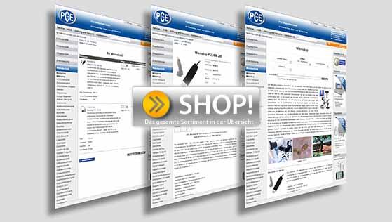 Besuchen Sie den PCE Instruments Online-Shop