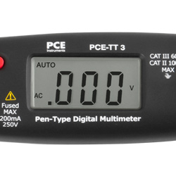 Display des Stift-Multimeters PCE-TT 3