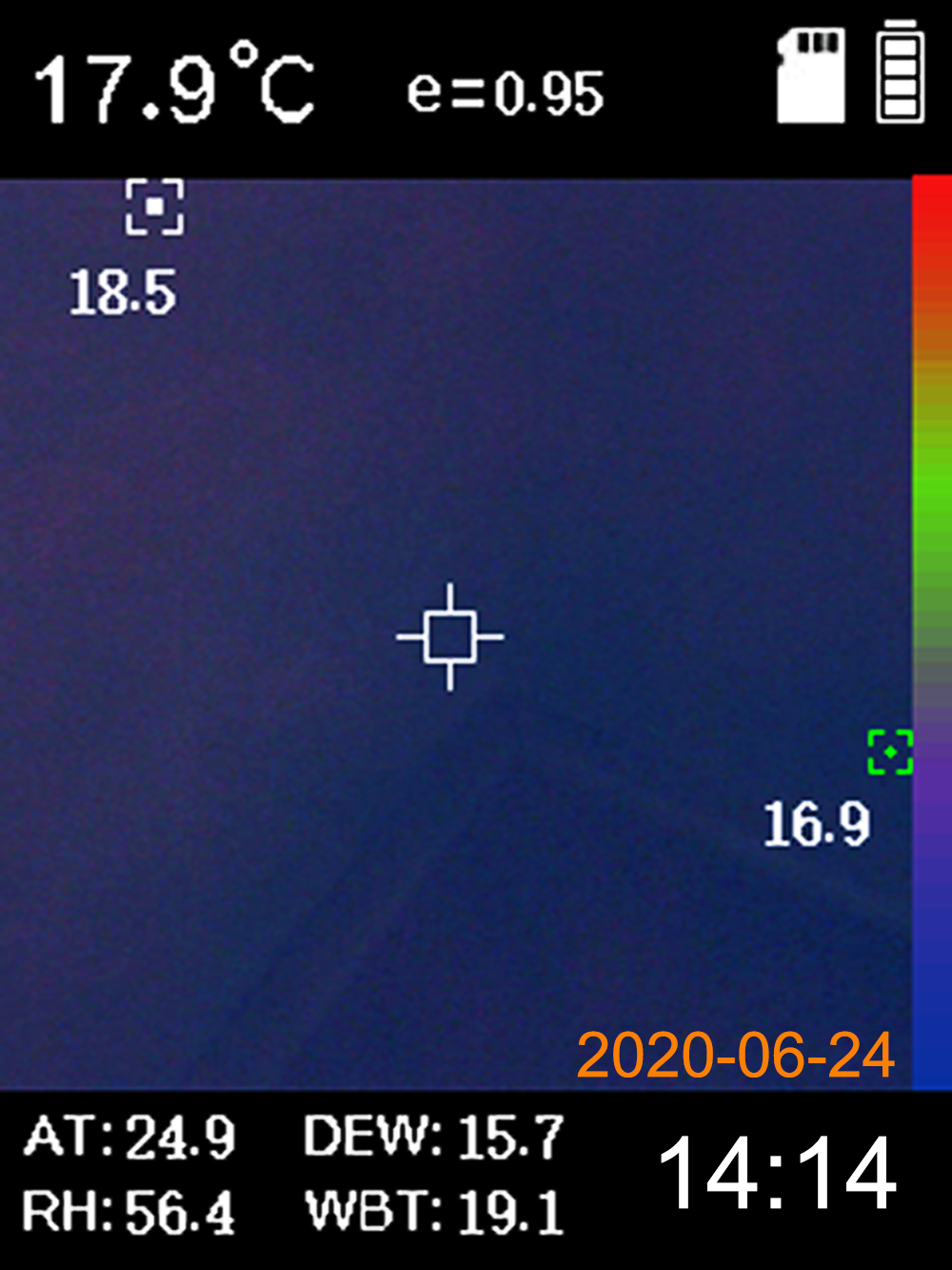 example image 1 thermal imager PCE-TC 25