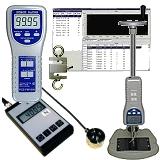 Kraftmessgeräte mit Datenschnittstelle und Software.