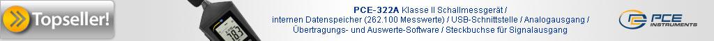 Prüfgeräte Topseller PCE-322A