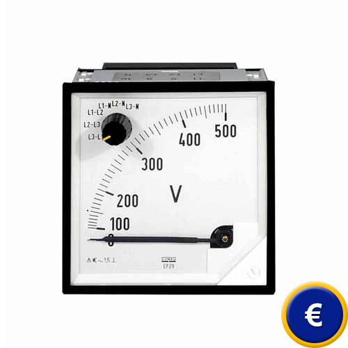 Power Factor Meter Analog : Analog spannungsmesser pce ep instruments
