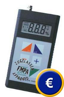 Zertifiziertes Baufeuchte-Messgerät FME (das hochgenaue Multitalent zur Ermittlung der absoluten Feuchte)