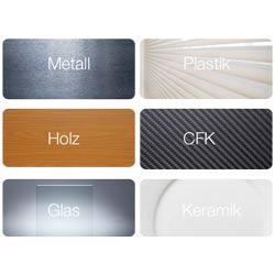 Im Gegensatz zu Geräten, die nur auf Metallen messen können, misst das berührungsloses Schichtdickenmessgerät CoatMaster Beschichtungen auf verschiedensten Materialien ohne Einschränkung