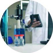Messung der Viskosität im Labor