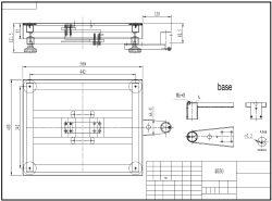 Diseño técnico de la balanza de plataforma PCE-EP P1 con una plataforma de 400x500 mm