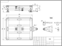 Diseño técnico de la balanza de plataforma PCE-EP P2 con una plataforma de 500x600 mm