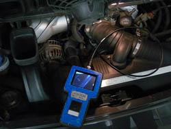 Videoscope im praktischen Einsatz im Motorraum