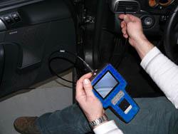 Videoscope im praktischen Einsatz an einem Lüftungskanal